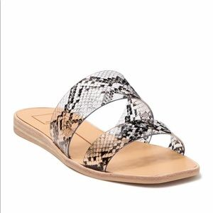 NWT Dolce Vita Transparent Snakeskin Slide Sandals